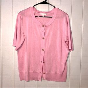 Baby pink New York and company cardigan. Size L